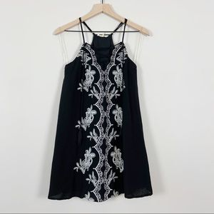 Urban Outfitters Entro Embroidered Slip Dress S